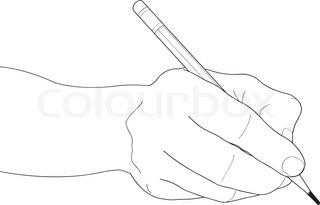 320x205 Drawn Pen Hand Holding