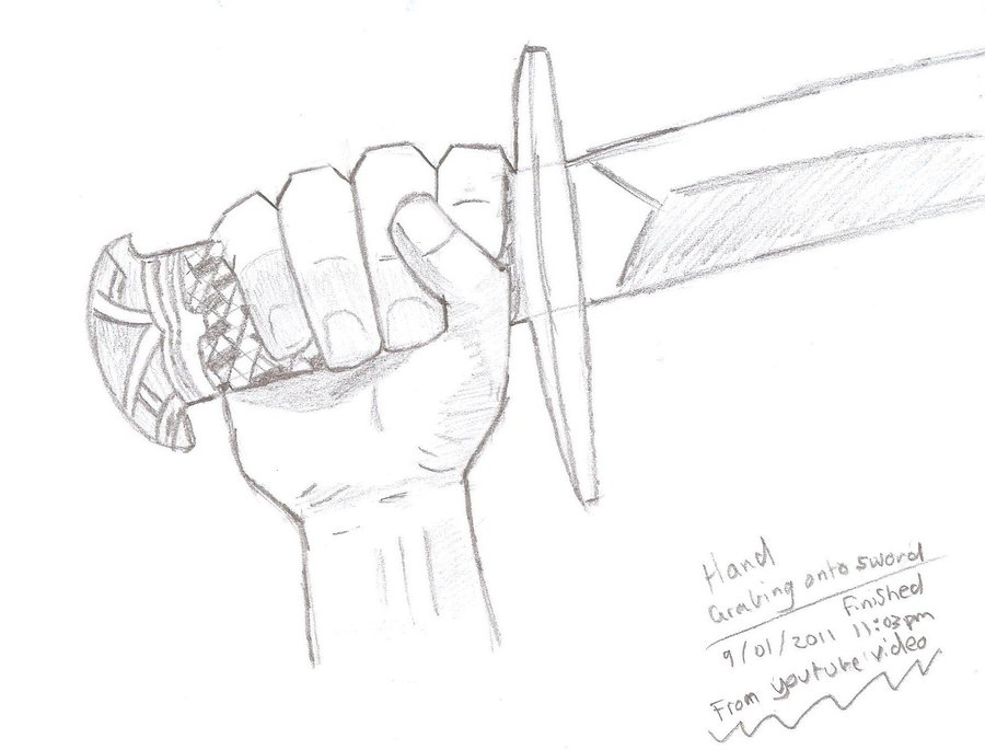 900x685 Hand Holding Sword By Kittyness21
