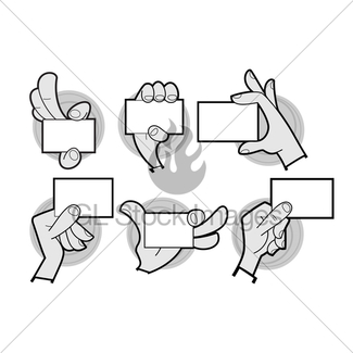325x325 Cartoon Hand Line Drawing 4 Fingers Gl Stock Images