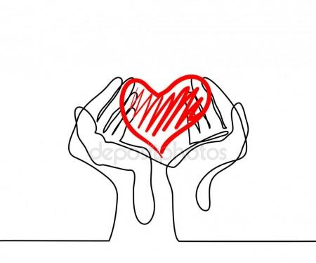 450x374 Hands Holding A Heart Stock Vector Valenty
