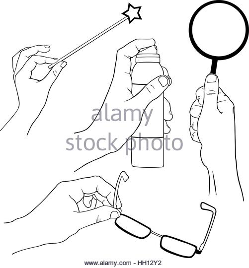 501x540 Hand Holding Objects Outline Set Stock Photos Amp Hand Holding
