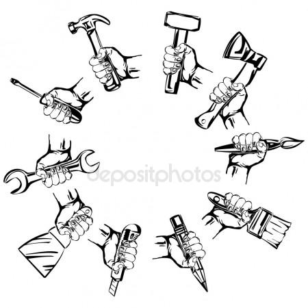 450x450 Hand Holding Pencil Stock Vectors, Royalty Free Hand Holding
