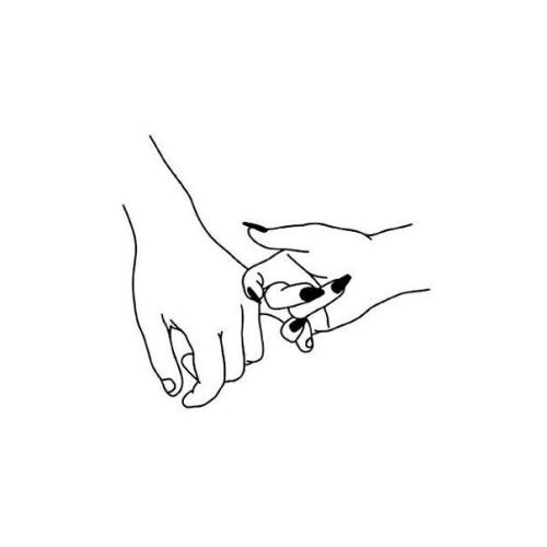 500x500 Hand Outline Tumblr