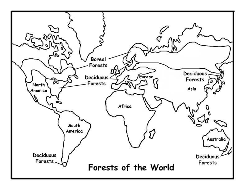 792x612 Dltk Coloring Pages World Map 493233