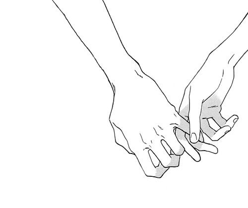 500x420 Holding Hands Drawing