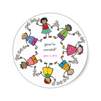 324x324 Children Holding Hands Stickers Zazzle