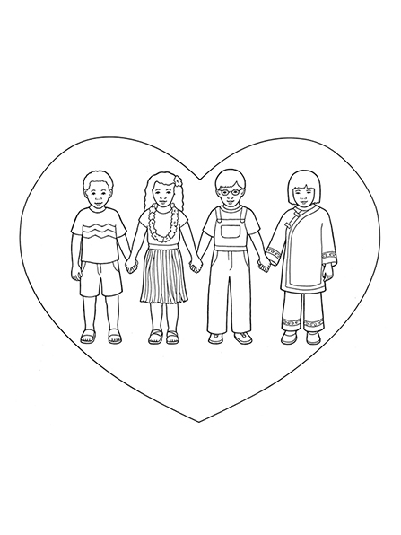 447x596 Children Holding Hands In Heart