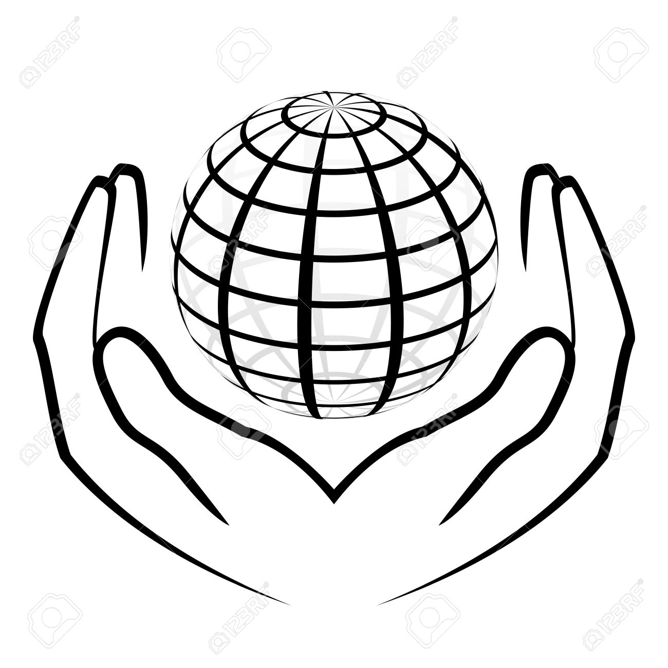 1300x1300 Globe With Hands Clipart