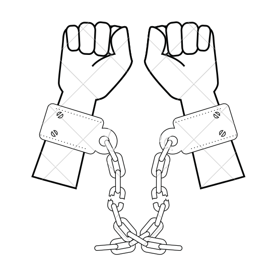 550x550 Hands With Handcuffs Icon