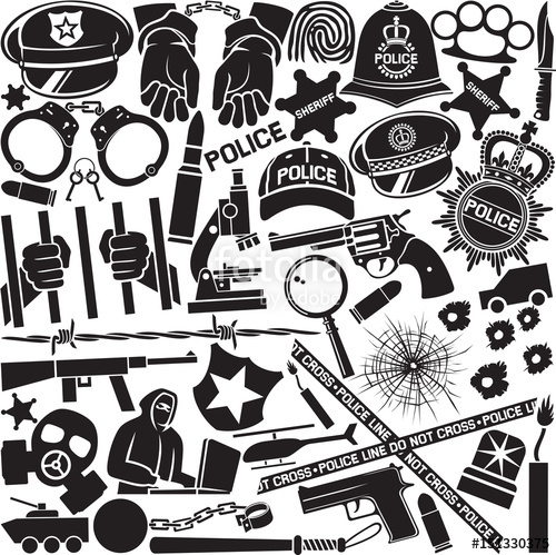 500x499 Police Icons Pattern Or Background (British Bobby Police Helmet