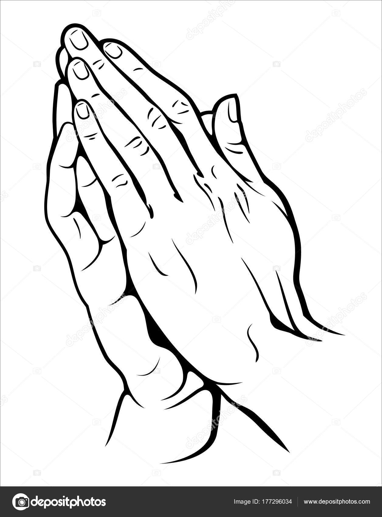 1257x1700 Human Hands Folded Prayer Stock Vector Imagoaiva