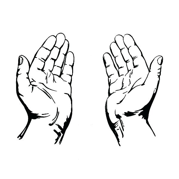 600x600 Praying Hands Coloring Page Coloring Pages Of Praying Hands