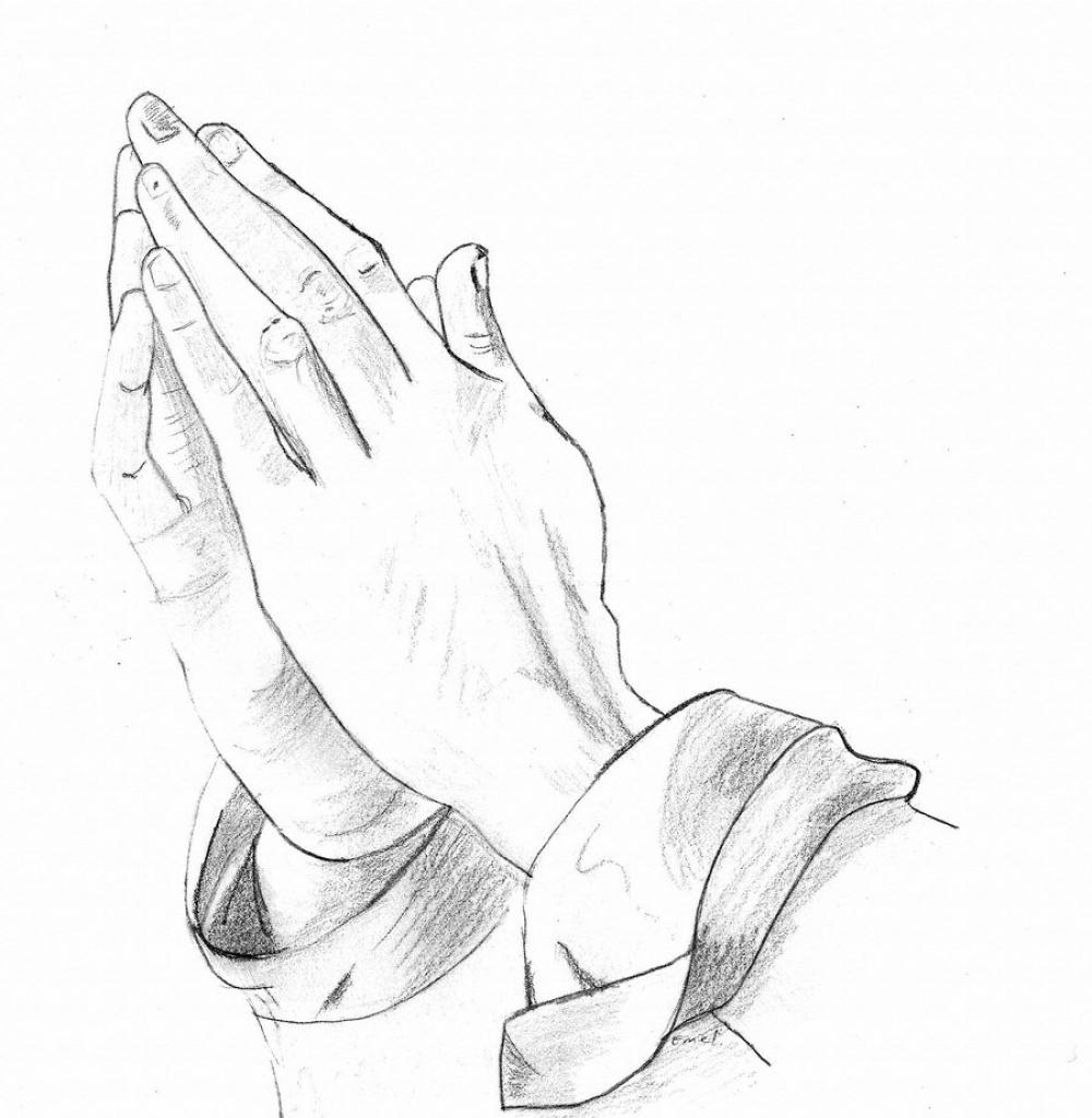 1000x1024 Praying Hands Line Drawing Drawing Of Praying Hands