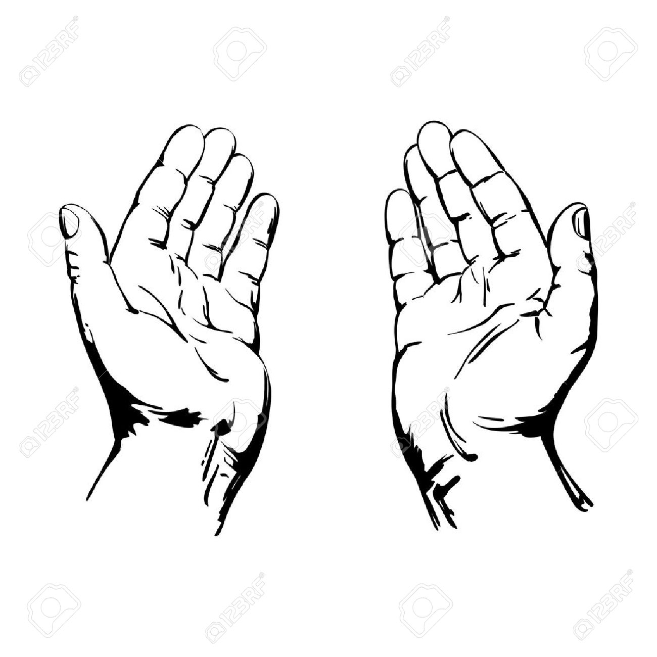 1300x1300 Praying Hands Royalty Free Cliparts, Vectors, And Stock