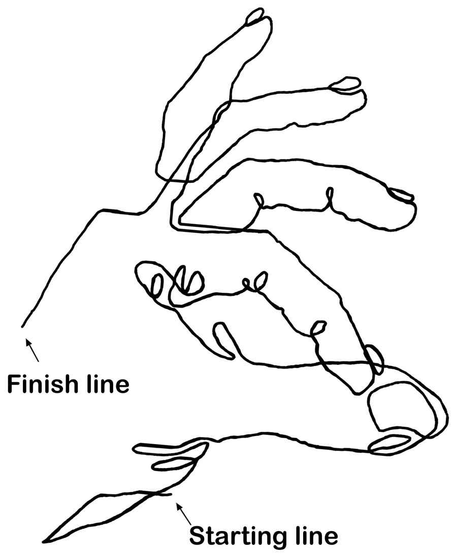 Hands Line Drawing