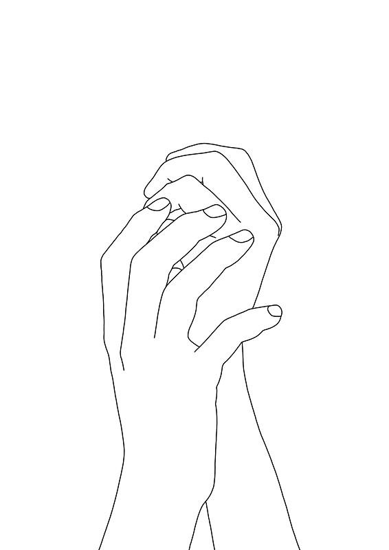 566x800 Hands Line Art Illustration