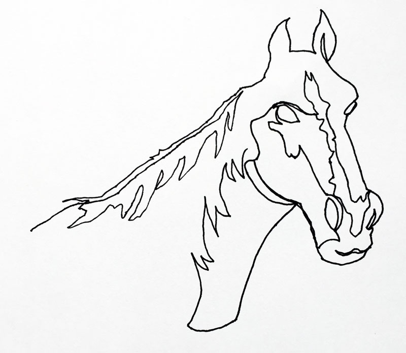 800x695 Continuous Line Drawing