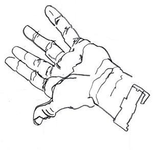 299x293 Contour Line Drawing Hand Brian Cho
