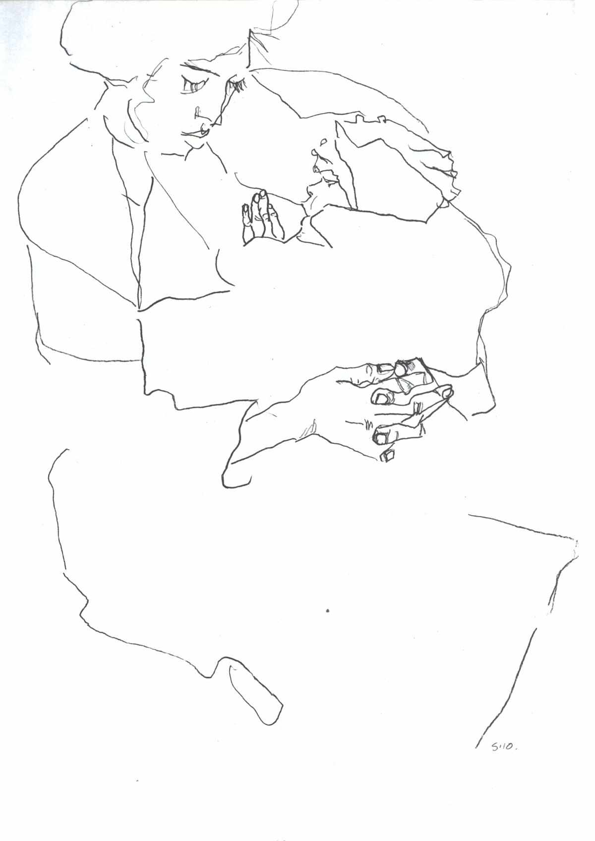 1200x1696 Contour Drawing