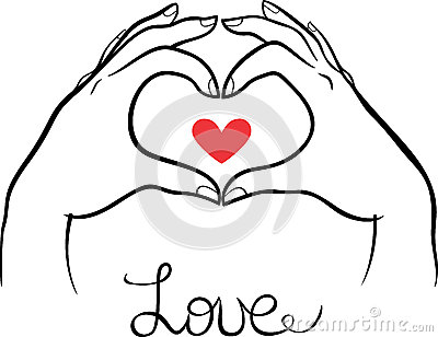 400x308 Hands Making A Heart Gesture Stock Vector