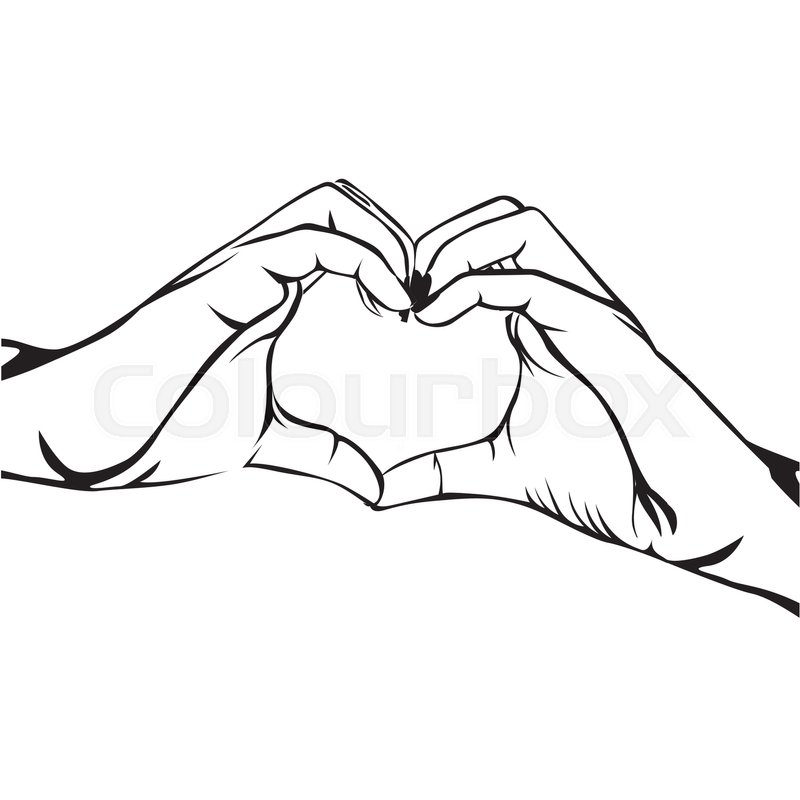 800x800 Hands Making Heart Gesture Image Vector Illustration Design