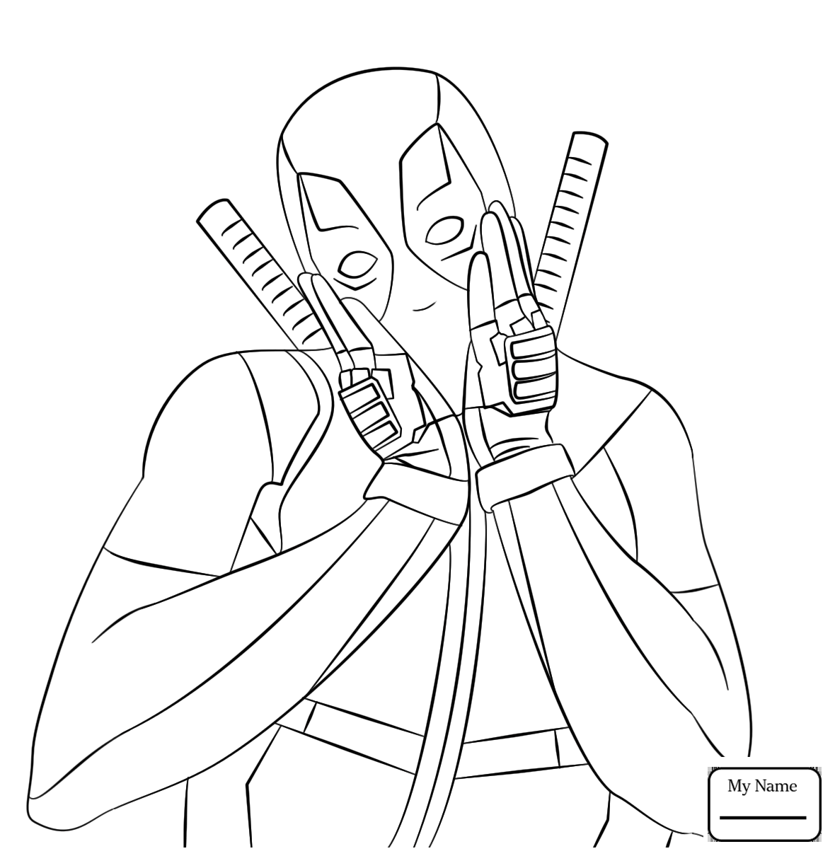 1180x1210 Coloring Pages For Kids Cartoons Deadpool Making Heart Shape