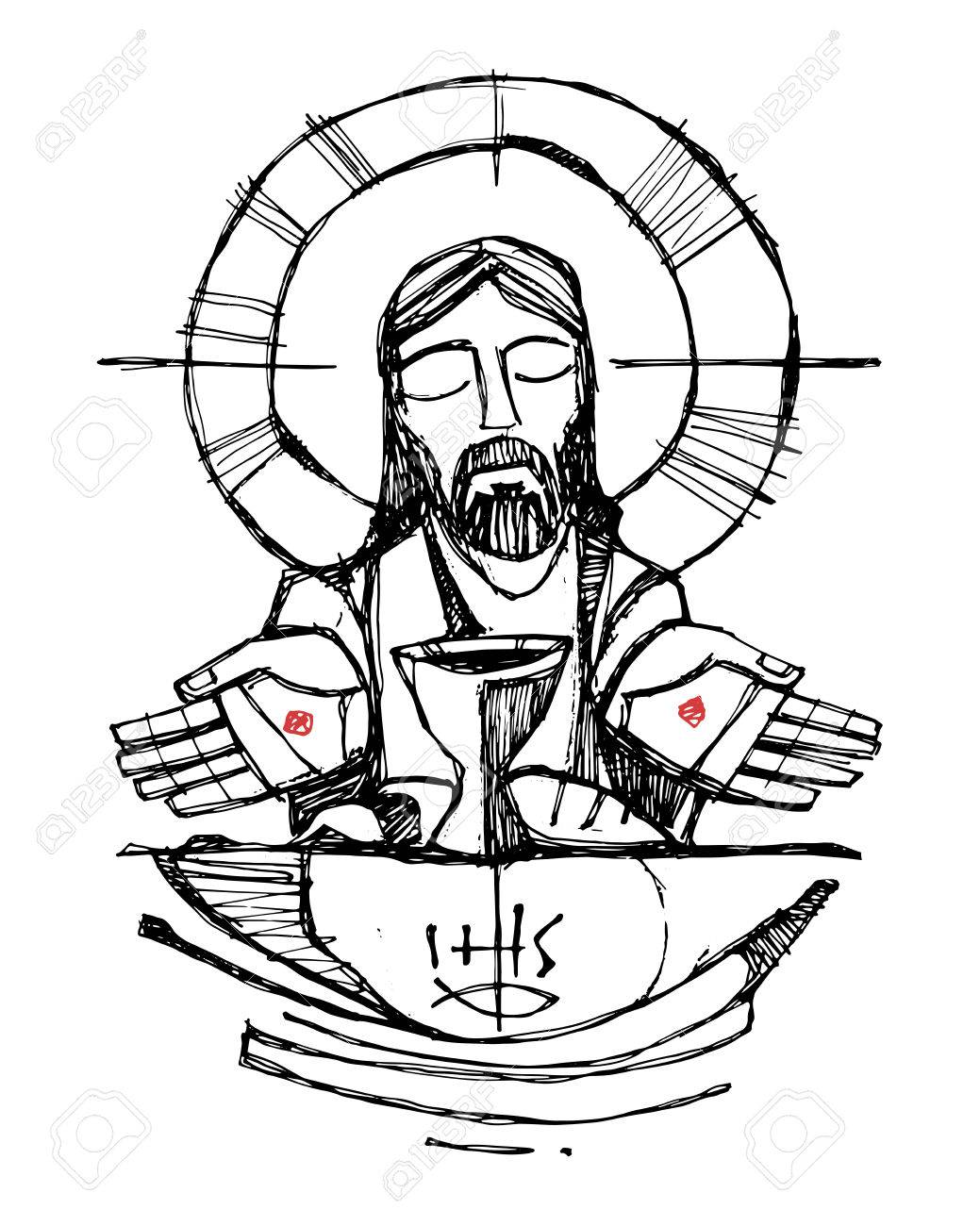 1039x1300 Hand Drawn Vector Illustration Or Drawing Of Jesus Christ