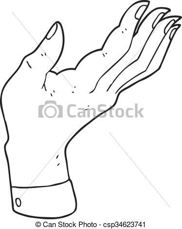 374x470 Hands Palm Up Clipart