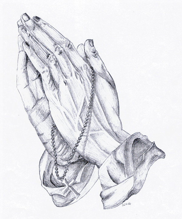 600x722 Praying Hands By Blue 14