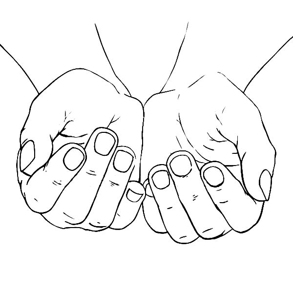 600x600 Cupped Female Hands Coloring Pages Cupped Female Hands Coloring