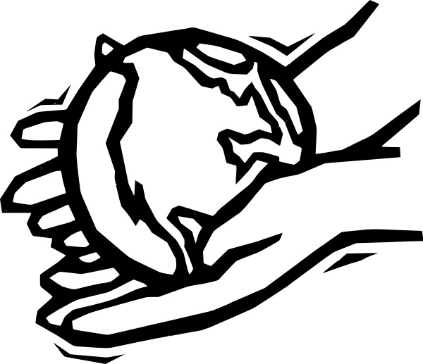 600x517 Earth In Gentle Hands Clip Art Free Vector In Open Office Drawing