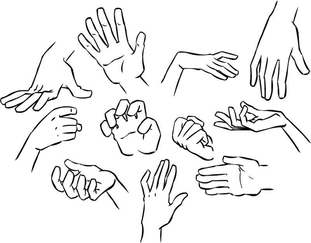 640x499 Gallery How To Sketch Hands,
