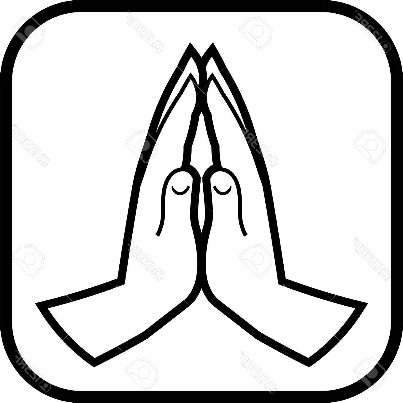 1300x1300 Hd Praying Hands Vector Icon Stock Prayer Drawing