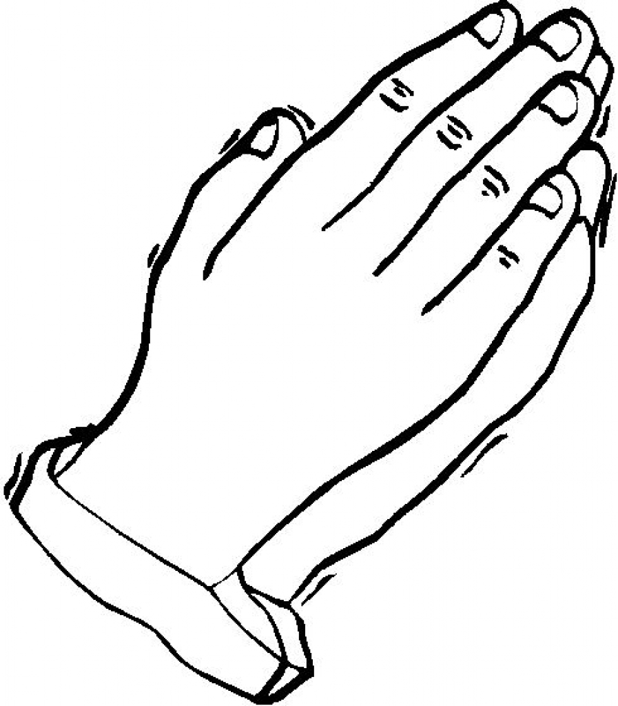 897x1024 Praying Hands Coloring Page