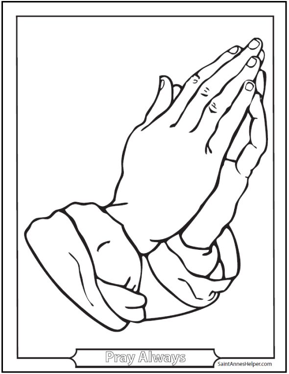 590x762 Superior Praying Hands Coloring Page Printable Image