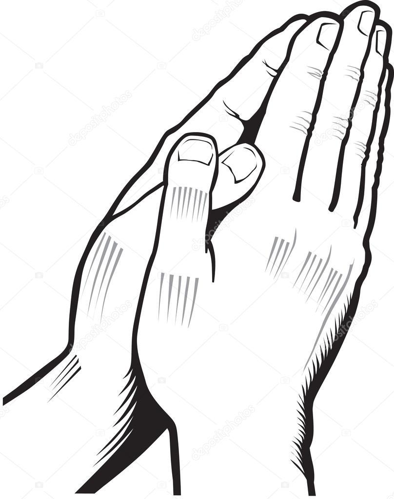 808x1024 Vector Illustration Of Praying Hands Stock Vector Volod2943