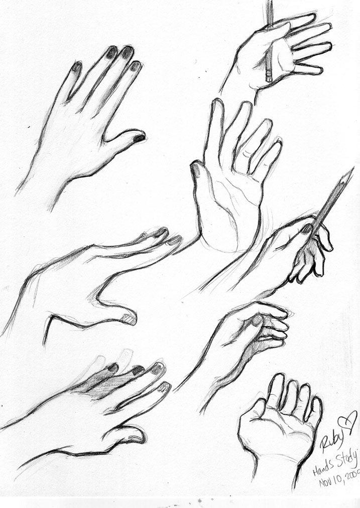 717x1013 Drawn Woman Hand Sketch