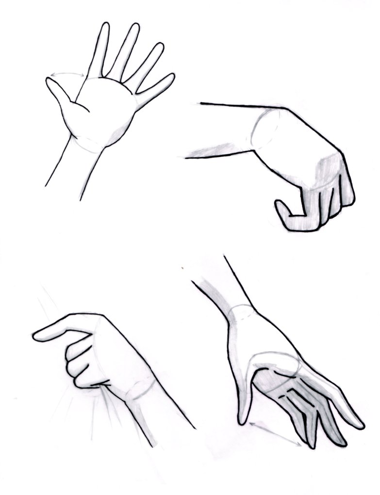 783x1020 Hand Reference Sheet By Sapheron Art