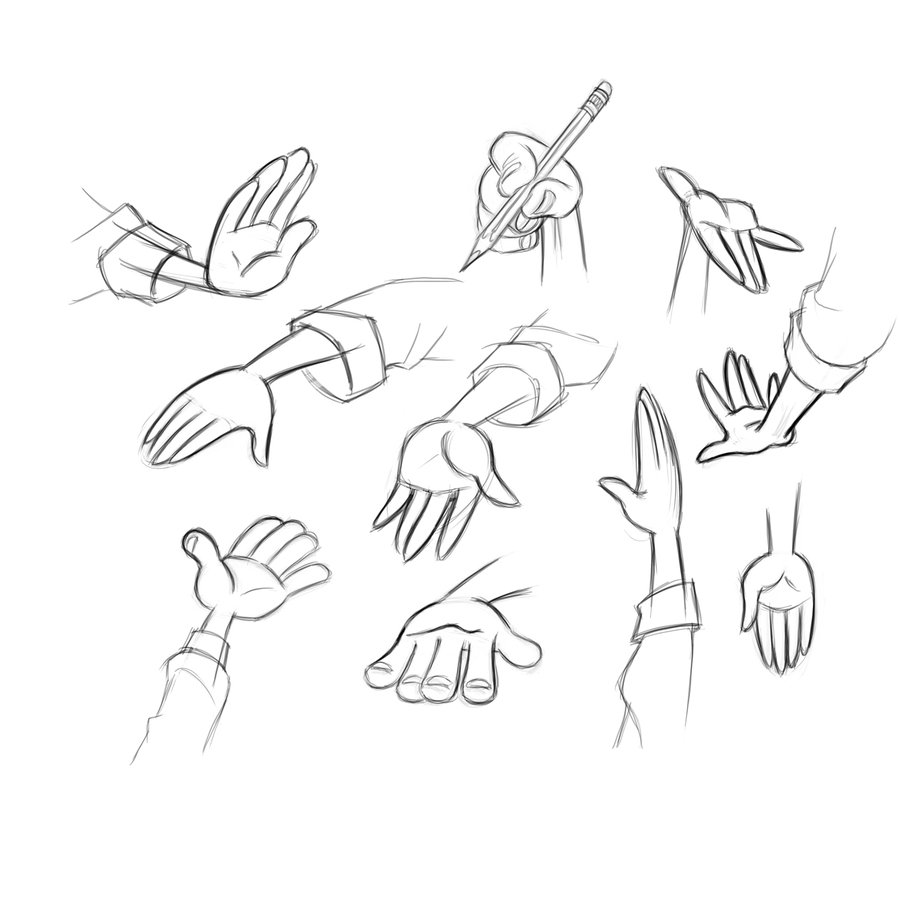 900x900 2 Of 3 Hand Reference Sheet For Modelers By Dagracey