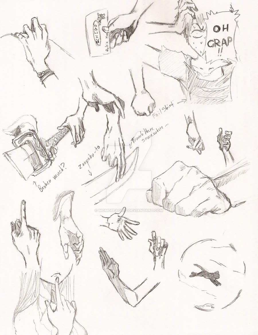900x1171 Bleach Hand Reference Page 3 By Momopeach32