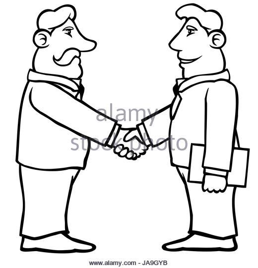 520x540 Cartoon Hands Shaking