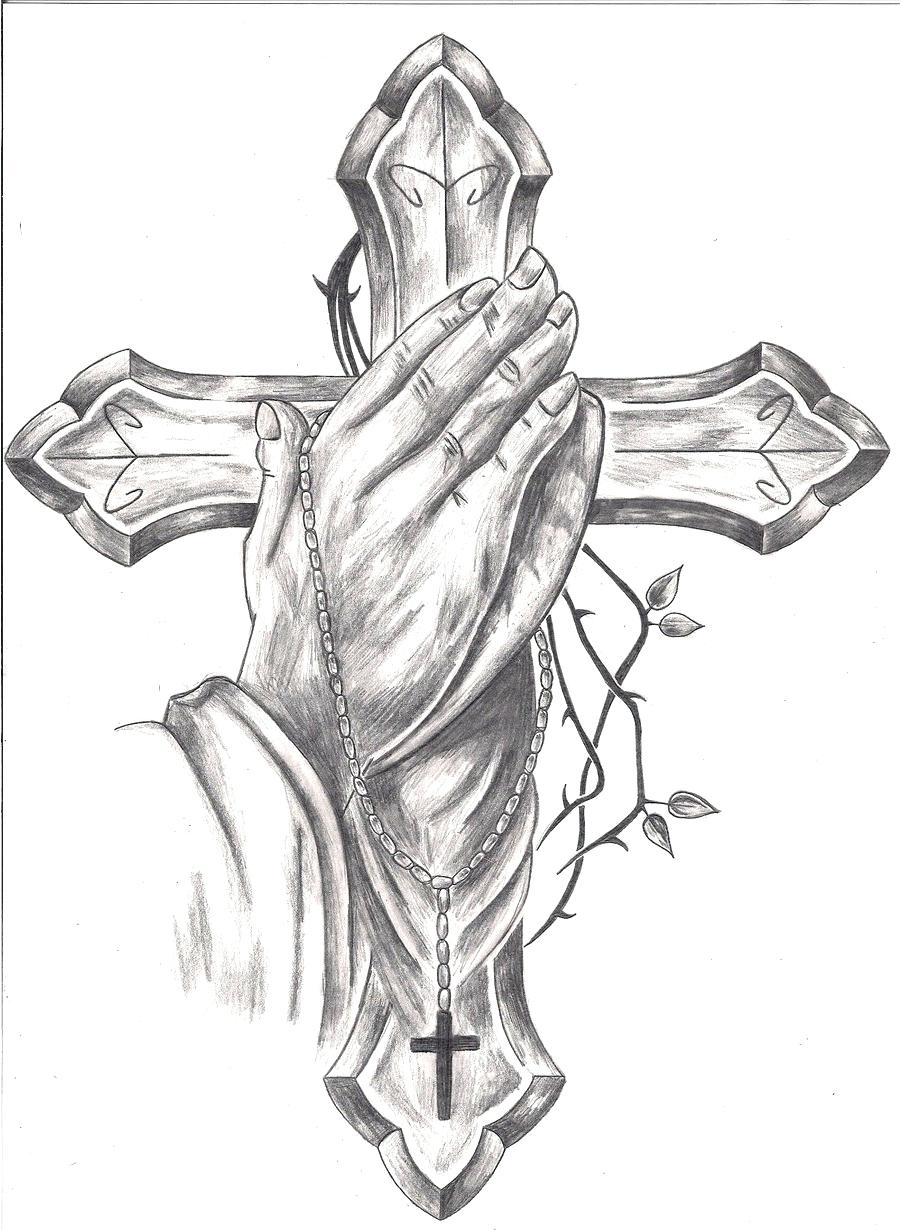 Hands With Rosary Drawing at GetDrawings | Free download