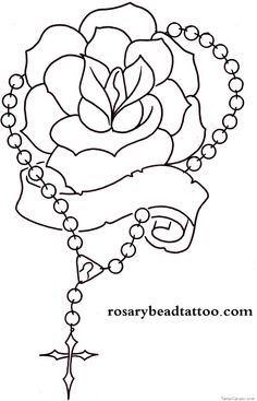 236x367 Forgive Me Praying Hands With Rose And Rosary Tattoo Design