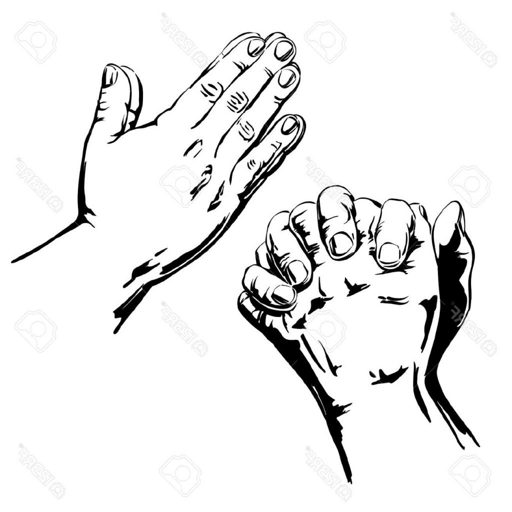 1024x1024 Hands Praying Drawing