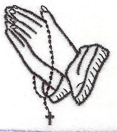 400x452 Nice Praying Hands Cartoon Rosary Hands Clipart 42