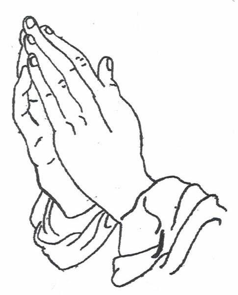 485x600 Praying Hands With Rosary Stencil 8 Nice X3cb X3epraying Hands X3c