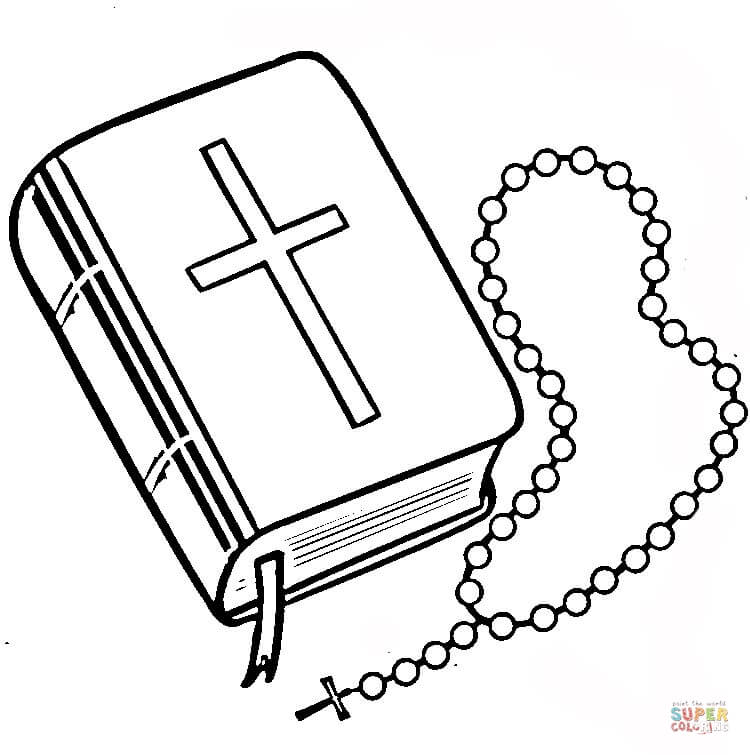 750x755 Rosary Coloring Page Printable 334462