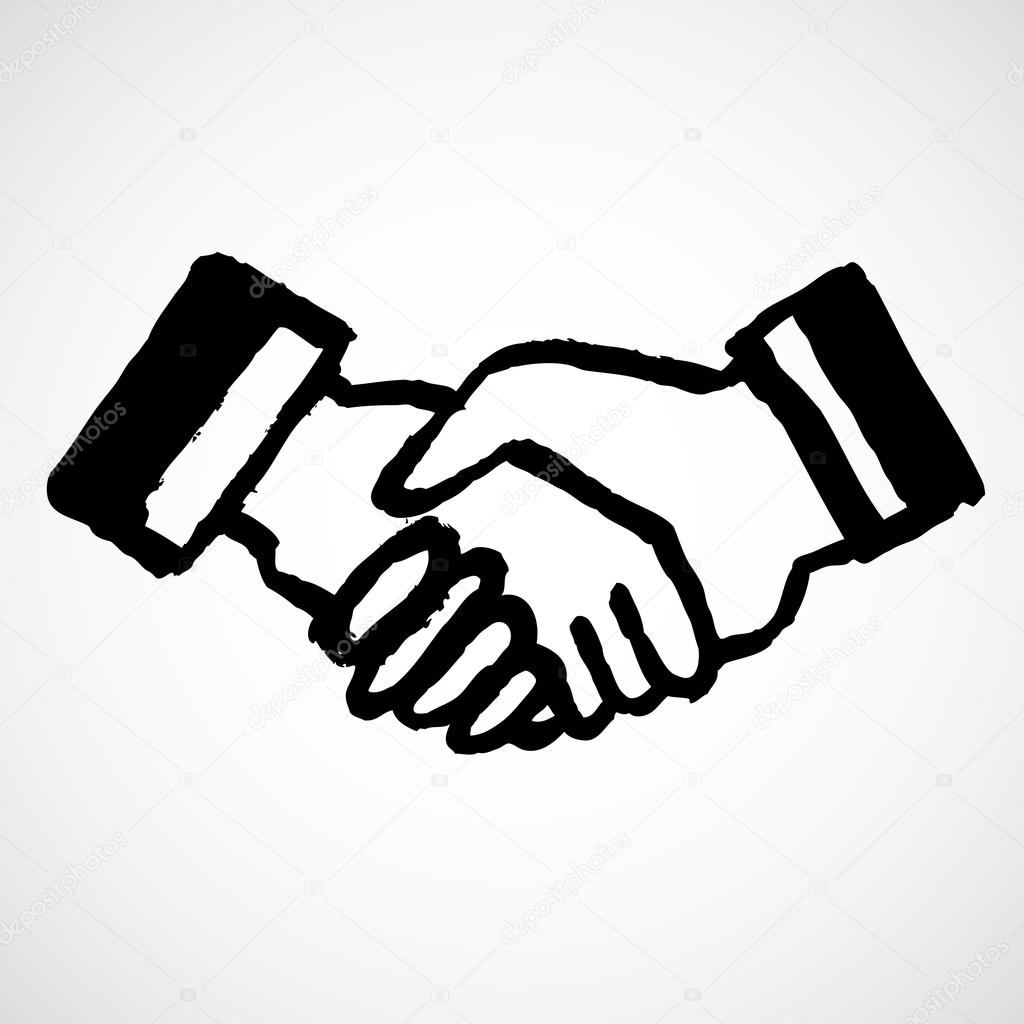 1024x1024 Ink Draw Handshake Stock Vector W1ndkh