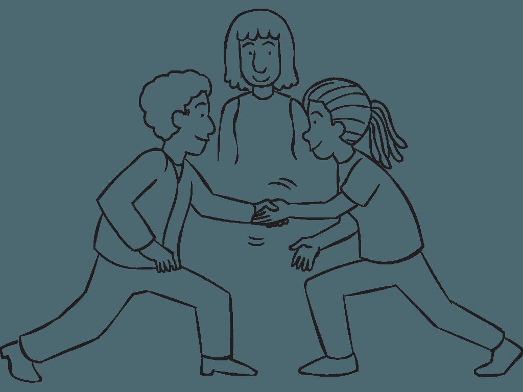 1024x768 Stationary Handshakes