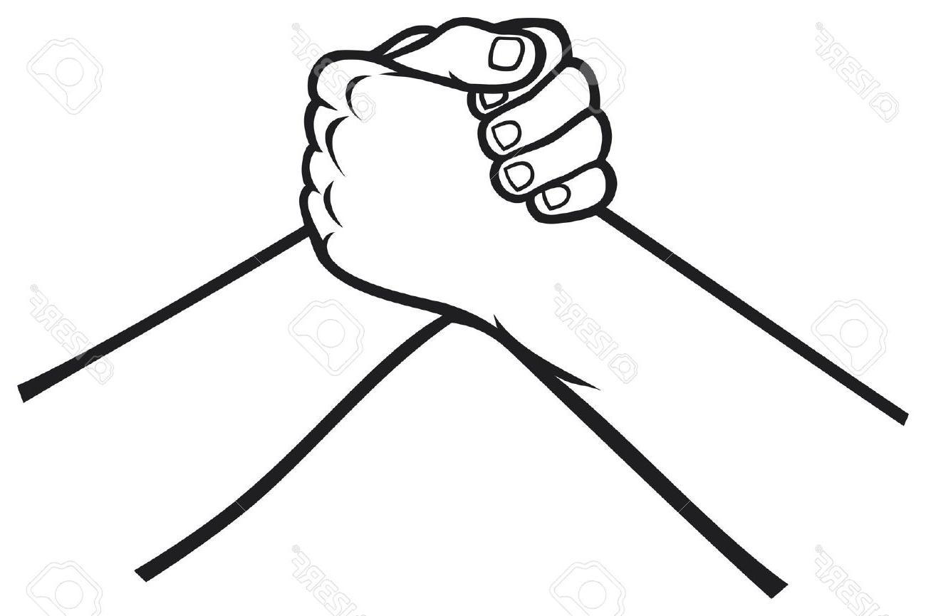 1300x865 Unique Handshake Stock Vector White Black Library